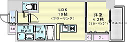 阪急神戸本線 神崎川駅 徒歩10分の賃貸マンション 2階1LDKの間取り