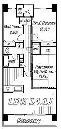 ライオンズマンション千葉グランドタワー[14階]の間取り