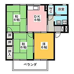 エスペランサ平野 B棟[2階]の間取り