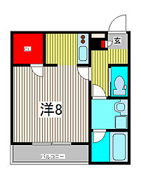 ピーチ戸田公園[1階]の間取り