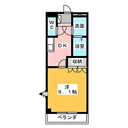 メイプル[1階]の間取り
