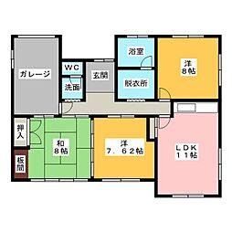[一戸建] 静岡県浜松市中区神田町 の賃貸【/】の間取り