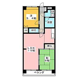 メゾンドヨサミA棟[1階]の間取り