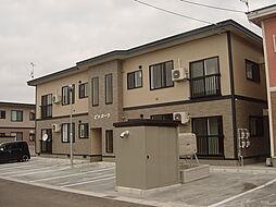 秋田県横手市八幡字上長田の賃貸アパートの外観