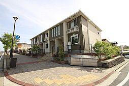 福岡県北九州市若松区小敷ひびきの2丁目の賃貸アパートの外観