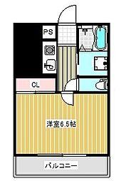 エスポワール三宮[7階]の間取り