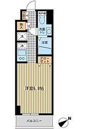 東京都江東区永代2丁目の賃貸マンションの間取り
