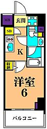 JR京浜東北・根岸線 大井町駅 徒歩10分の賃貸マンション 2階1Kの間取り