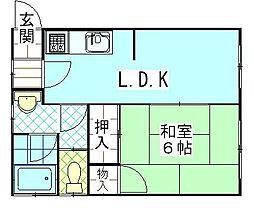 コーポ斉藤[3号室]の間取り