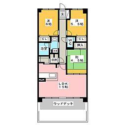 ライオンズガーデン東岡崎壱番館[1階]の間取り