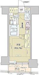 東京メトロ南北線 白金高輪駅 徒歩7分の賃貸マンション 3階1Kの間取り