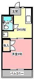 静岡県浜松市中区曳馬3の賃貸マンションの間取り