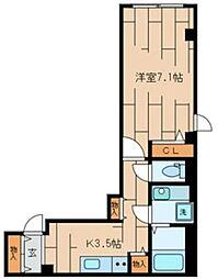 CLAIR COURT(クレールコート) 1階1Kの間取り