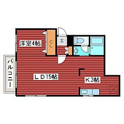 ドメスII[2階]の間取り