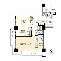 グローリオタワー横浜元町[9階]の間取り