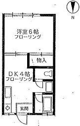 東京都文京区湯島4丁目の賃貸アパートの間取り
