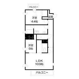 北海道札幌市中央区南二条西21丁目の賃貸マンションの間取り