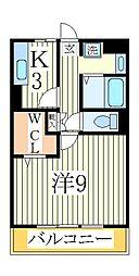 セレニティーホームズB[2階]の間取り