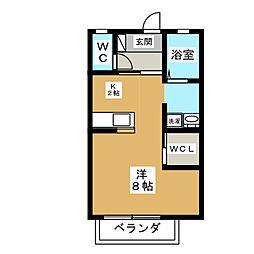 クオーレT[2階]の間取り