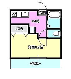 メゾンドゥキラ[2階]の間取り