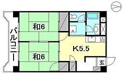 第85杉フラット[503 号室号室]の間取り