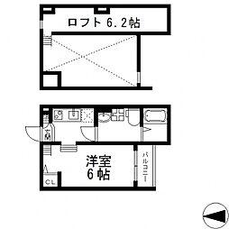 Lazward HigashiOsaka(ラズワルドヒガシオオサカ)[102号室号室]の間取り