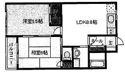 オザサライブコープ[406号室号室]の間取り