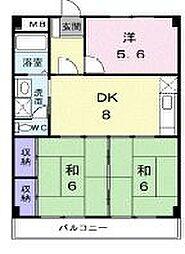 香川県高松市香西本町の賃貸マンションの間取り