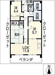 桃山ガーデンヒルズ[4階]の間取り