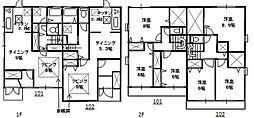 [テラスハウス] 埼玉県さいたま市中央区大戸3丁目 の賃貸【/】の間取り