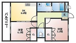 グランドシャトーII[2階]の間取り