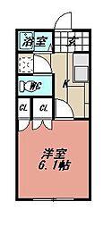 ファミリーコーポ清納 A棟[103号室]の間取り