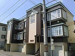 北海道札幌市西区八軒五条西3の賃貸アパートの外観