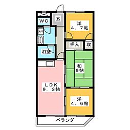 リリカル7[5階]の間取り