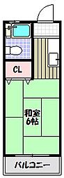 シティヒル[1階]の間取り
