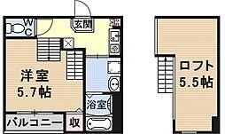 仮称)京都市山科区大宅関生町SKHコーポ[A201号室号室]の間取り