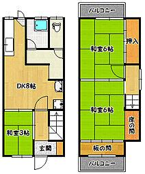 [テラスハウス] 兵庫県神戸市北区鈴蘭台北町2丁目 の賃貸【/】の間取り