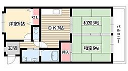 ガーデンハイツエクレール[103号室]の間取り