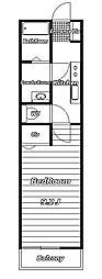 リブリ・Espoir弐番館[1階]の間取り