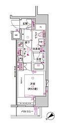 東京メトロ日比谷線 神谷町駅 徒歩4分の賃貸マンション 4階1Kの間取り
