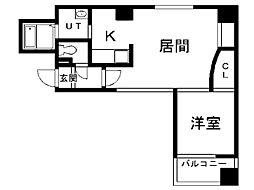 札幌市営南北線 さっぽろ駅 徒歩4分の賃貸マンション 5階1LDKの間取り