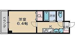 Plaisir茨木 3階1Kの間取り