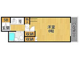 エヌタス武庫之荘[2階]の間取り