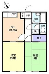 メゾンタミー1[1階]の間取り