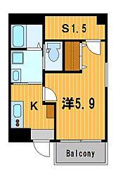 神奈川県横浜市神奈川区東神奈川2丁目の賃貸マンションの間取り