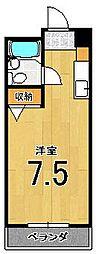 フラッツ太秦[402号室]の間取り