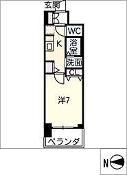 エステムコート名古屋栄プレシャス[7階]の間取り