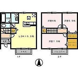 [テラスハウス] 徳島県徳島市八万町法花 の賃貸【/】の間取り