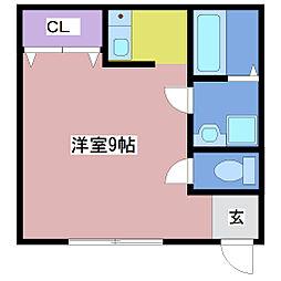 アクティー神戸[3階]の間取り