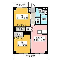 ボナールさくら[3階]の間取り